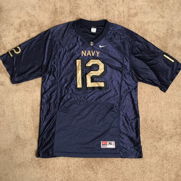 newest 1a590 22fc5 Nike Authentic Navy Football Jersey